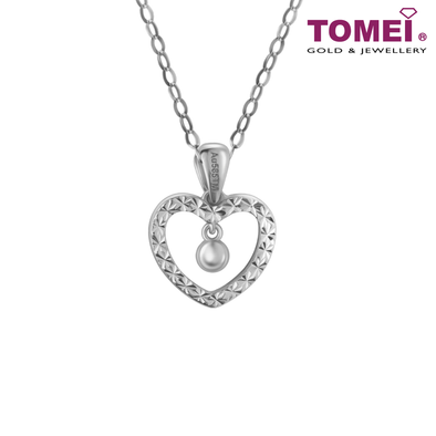 Drop of Love White Gold Diamond Pendant | Tomei White Gold 585 (14K) (P6099)