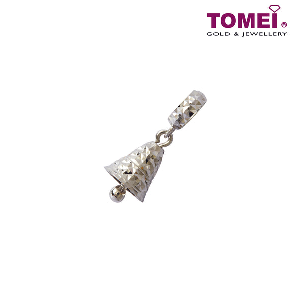 [Online Exclusive][Last Piece]Mosaicked Jingling Bell Charm | Tomei White Gold 585 (14K) (P65) Green