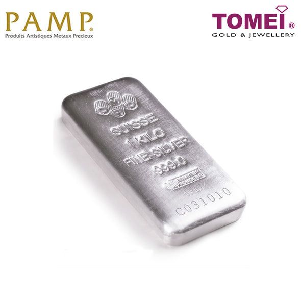 [Limited Stock]Tomei x PAMP Suisse Fine Silver 999 Silver Bar (SIL-1KG)