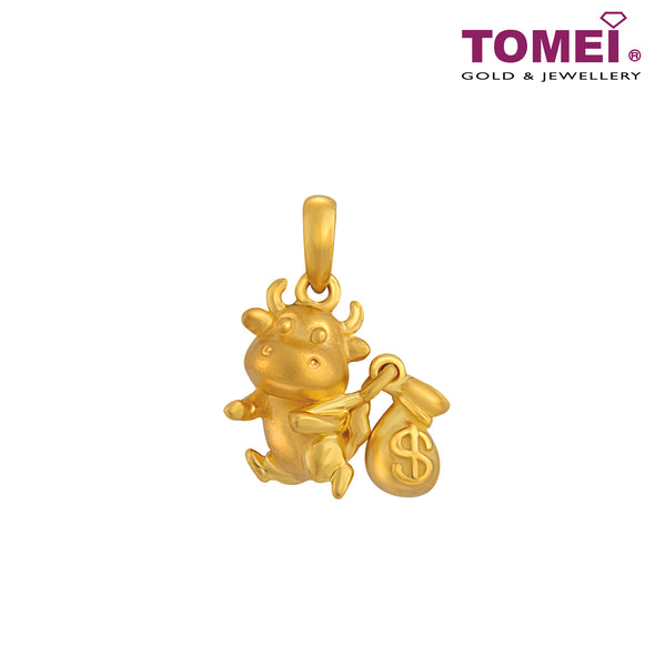 Fortune Little Ox 钱袋牛 Pendant | Tomei Yellow Gold 916 (22K) (PP0051-OX-1C)
