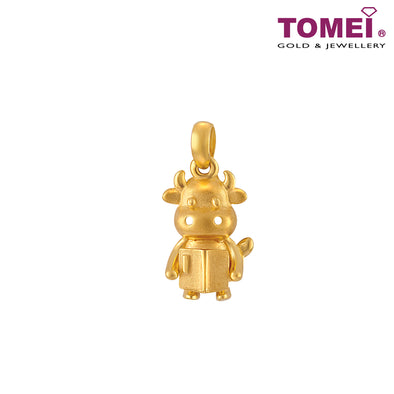 Brilliant Little Ox 状元牛 Pendant | Tomei Yellow Gold 916 (22K) (PP0052-OX-1C)