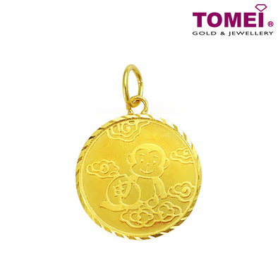 Monkey with Blessing Baby Pendant | Tomei Yellow Gold 916 (22K) (PP2337-1C)