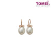 Earrings of Lustrous Beauty | Pearl Ribbon | Tomei White Gold 750 (18K) (E10245PL03)