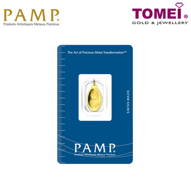 "[Online Exclusive] Tomei x PAMP Suisse Yellow Gold 9999 (24K) ""Lady Fortuna"" Pendant 1.15 Grams (PSC-R-1G)"