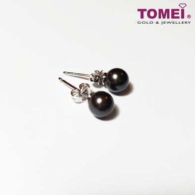 [Online Exclusive] Pearlfect Love Black Pearl Earrings | Tomei White Gold 375 (9K) Pearl (E2056)