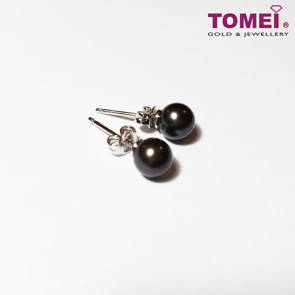 [Online Exclusive] Pearlfect Love Black Pearl Earrings | Tomei Pearl (P30008042)