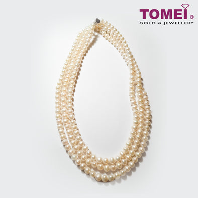 [Online Exclusive] Pearlfect Love Triple Strand Pearl Necklace | Tomei Pearl (PN0017953)