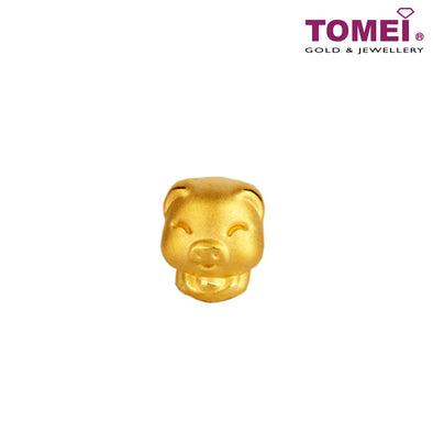 Pig Zodiac Pendant | Sweet Blessing | Tomei Yellow Gold 916 (22K) (9P-YG0236P-PG-1C)