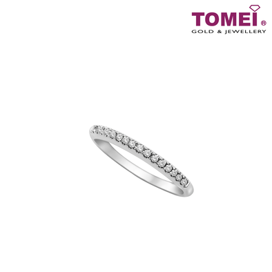 Ring of Sparkling Stylishness in Linearity | Tomei White Gold 375 (9K)
