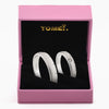 "Tomei White Gold 375 (9K) ""Soul-Tie"" Wedding Rings (R3346V / R3347V)"