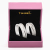 "Tomei White Gold 750 (18K) ""The Knot"" Wedding Rings (R3493 / R3522)"