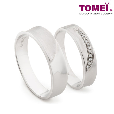 Tomei White Gold 375 (9K) Wedding Rings (RDX16266)