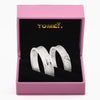 "Tomei White Gold 750 (18K) ""The Knot"" Wedding Rings (RDX16460)"