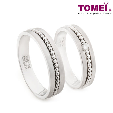 "Tomei White Gold 750 (18K) ""The Knot"" Wedding Rings (RDX16472)"