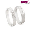 "Tomei White Gold 750 (18K) ""The Knot"" Wedding Rings (RDX16508)"