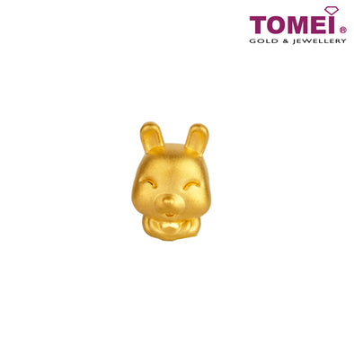 "Tomei Yellow Gold 916 (22K) Sweet Blessing ""Rabbit"" Zodiac Pendant (9P-YG0228P-RB-1C)"