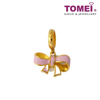 [Online Exclusive]Sweet Ribbon Bow Charm | Tomei Yellow Gold 916 (22K) (TM-YG0542P-EC)