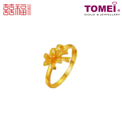 [ONLINE EXCLUSIVE PRE ORDER] Tomei x Xifu Yellow Gold 999 (24K) Perfect Gift Ring 完美礼物•S2 戒指 (XF-WMLW-S2-O)