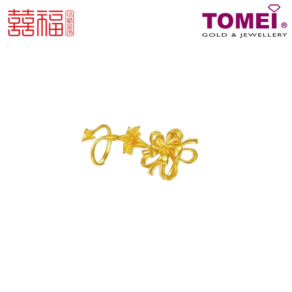 [ONLINE EXCLUSIVE PRE ORDER] Tomei x Xifu Yellow Gold 999 (24K) Blossoming Lilies Ring 百合盛欢•L 戒指 (XF-BHSH-L-O)