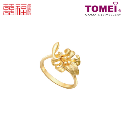 Tomei x Xifu Yellow Gold 999 (24K) Perfect Gift Ring 完美礼物•M 戒指 (XF-WMLW-M-O)
