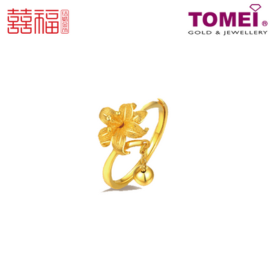 [ONLINE EXCLUSIVE PRE ORDER] Tomei x Xifu Yellow Gold 999 (24K) Outshining Flower Ring 一花独秀•L 戒指 (XF-YHDX-M-O)