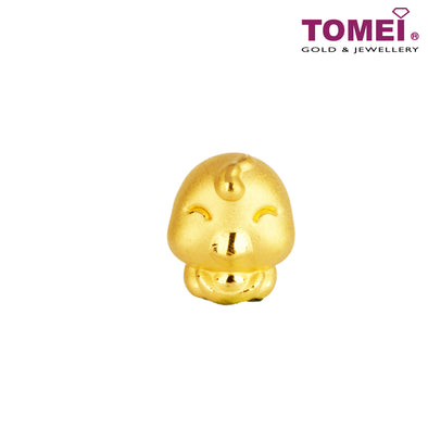 "Tomei Yellow Gold 916 (22K) Sweet Blessing ""Rooster"" Zodiac Pendant (9P-YG0234P-CK-1C)"