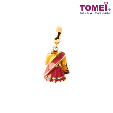 [Online Exclusive]Stunning Saree Charm | 1 Malaysia | Tomei Yellow Gold 916 (22K) (TM-YG0769P-EC)