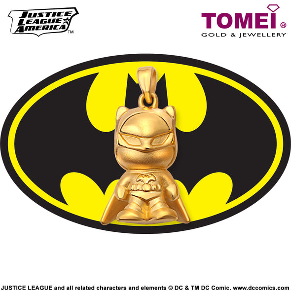 "Tomei x DC Justice League Super Heroes Yellow Gold 999 (24K) ""Batman"" Pendant (BM-1)"