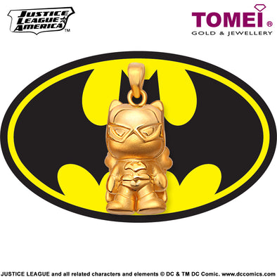 "Tomei x DC Justice League Super Heroes Yellow Gold 999 (24K) ""Batgirl"" Pendant (BG-1)"