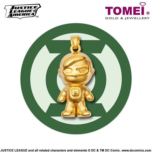 "Tomei x DC Justice League Super Heroes Yellow Gold 999 (24K) ""Green Lantern"" Pendant (GL-1)"
