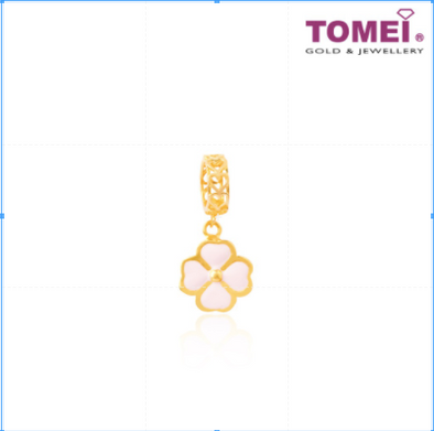 Lucky Clover Charm Tomei Yellow Gold 916 (22K) (TM-APP091-HG-EC)