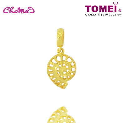 [Online Exclusive] Spiral Seashell Chomel Charm | Ocean of Wondrous | Tomei Yellow Gold 916 (22K) with Complimentary Bracelet (TM-PT045-1C)