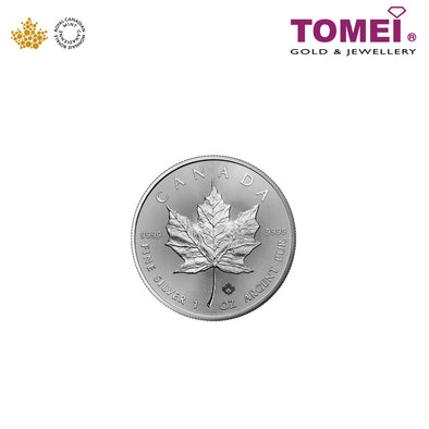 [Online Exclusive][Limited Stock] Tomei x Royal Canadian Mint 2018 Maple Leaf Coin 1OZ | Tomei 9999 Fine Silver (SML-1OZ-CA-18)