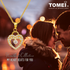 [Online Exclusive] So In Love Pendant | Cubic Zirconia Heartbeat Collection | Tomei Yellow Gold 916 (22K) (9P-SP1-1C)