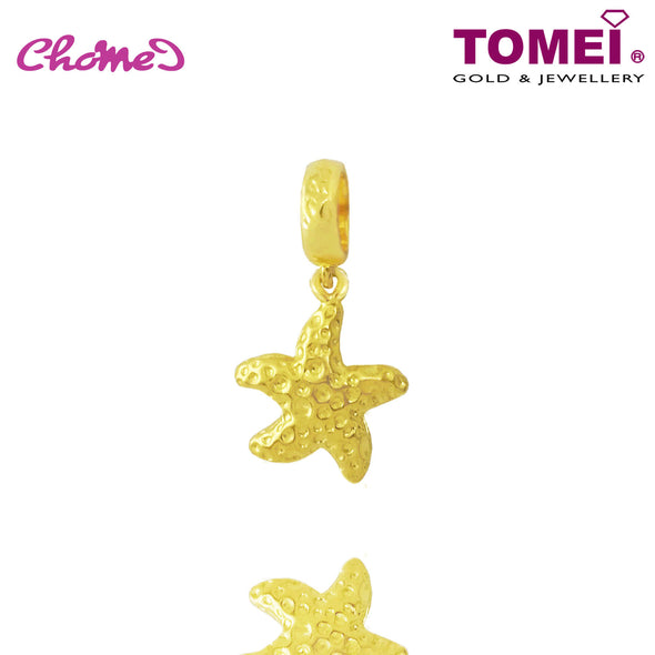 [Online Exclusive] Starfish Chomel Charm | Ocean of Wondrous | Tomei Yellow Gold 916 (22K) with Complimentary Navy Blue Bracelet (TM-PT043-1C)