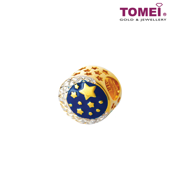 Charm of Starry Voyage in the Galaxy of My Heart | Tomei Yellow Gold 916 (22K) (TM-YG0552P-EC)