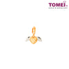 [Online Exclusive]Wing of My Love Charm | Tomei Yellow Gold 916 (22K) (TM-YG0340P-2C)