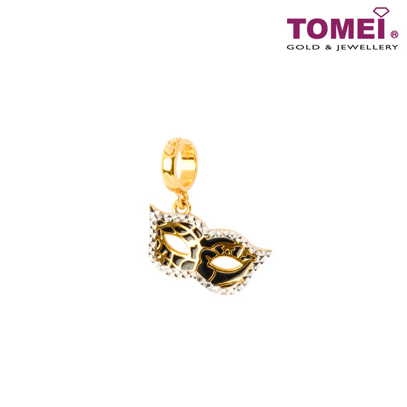 [Online Exclusive]Love in Venice Mask Charm | Tomei Yellow Gold 916 (22K) (TM-YG0427P-EC)