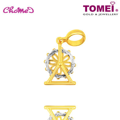 [Online Exclusive] Ferris Wheel Chomel Charm | Tomei Yellow Gold 916 (22K) with Complimentary Black Bracelet (TM-YG0448P-2C)