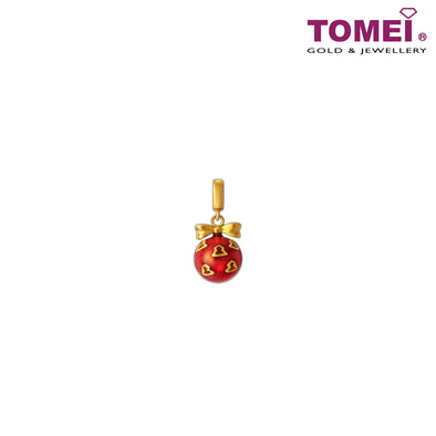 [Online Exclusive]Charm of Stars on the Red Ball of Yarn  | Tomei Yellow Gold 916 (22K) TM-YG0549P-R-EC