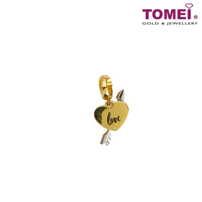 Be My Love Arrow Charm | Tomei Yellow Gold 916 (22K) (TM-YG0818P-2C)