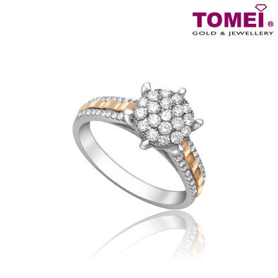 Tomei White Gold 750(18K) All of You Diamond Ring (SB-CR1010B)