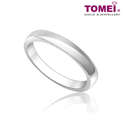 Tomei White Gold 375 (9K) Eternal Binding Wedding Band (EBK-R5493V)