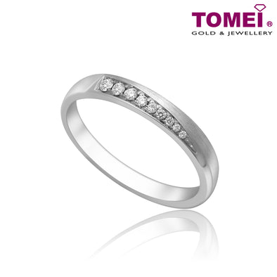 Tomei White Gold 375 (9K) Eternal Binding Wedding Band (EBK-R5494V)