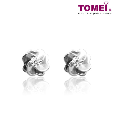 Love Me, Love Me Lots Diamond Earrings | Tomei White Gold 375 (9K) (E1421)
