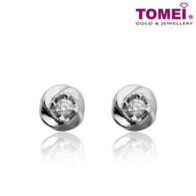 Petals of Love Diamond Earrings | Tomei White Gold 375 (9K) (E1423)