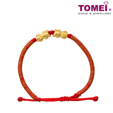 Tomei Yellow Gold 999 (24K) Atomic Goldfish In Pairs Bracelet (KP-SY-RS)
