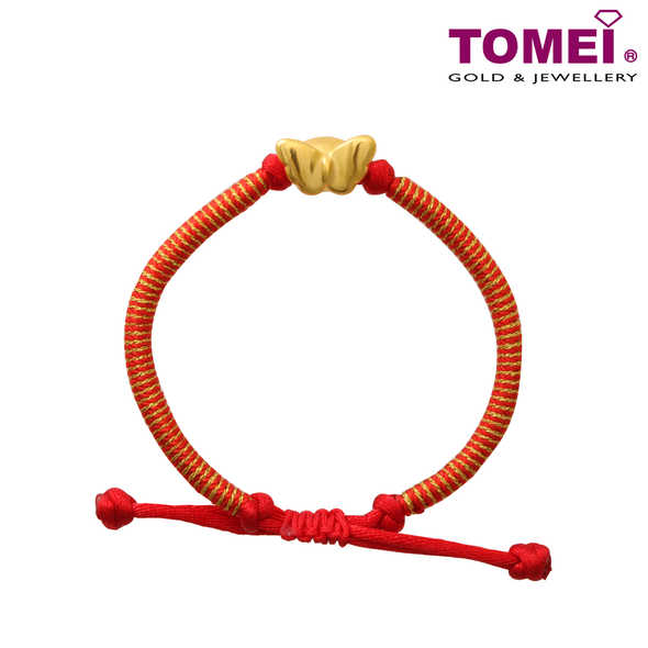 Tomei Yellow Gold 999 (24K) Atomic Butterfly Bracelet (KP-HD-RS)