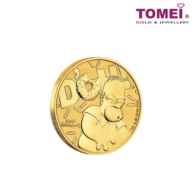 [ONLINE EXCLUSIVE PRE ORDER] Tomei x Perth Mint Yellow Gold 9999 (24K) 2020 Tuvalu Homer Simpson 9999 Gold Coin 1 Oz. (As-1z-20)