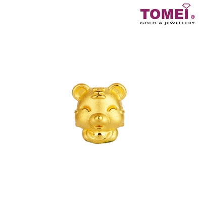 "Tomei Yellow Gold 916 (22K) Sweet Blessing ""Tiger"" Zodiac Pendant (9P-YG0227P-TG-1C)"